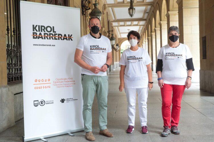 Presentación del programa para terminar con las barreras deportivas. Foto: Diputación
