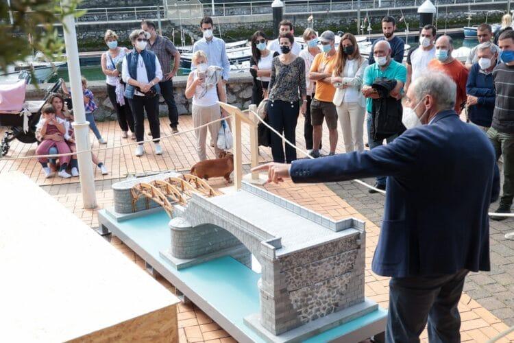 Muestra de la reconstrucción del puente de Deba. Foto: Gipuzkoa Kultura